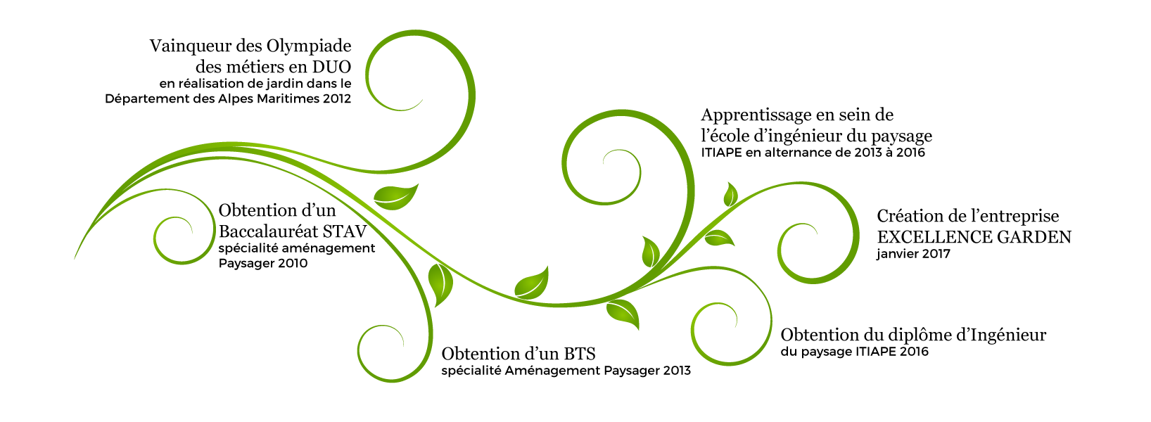 Excellence garden - Entreprise de conception d'espace vert crée en 2017